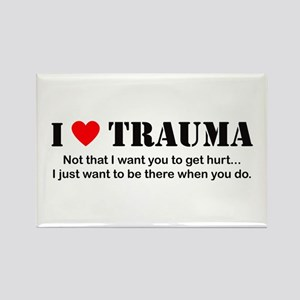 I [heart] Trauma Rectangle Magnet